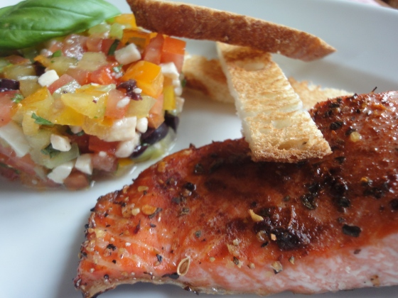 Open-Faced Baguette With Cured Salmon And Sauce Tartare Recipe ...